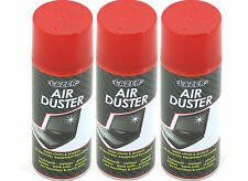 3 x 400ml Compressed Air Duster Spray Can Cleans Protects Laptops Keyboards etc