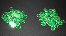 BINGO PAPER Cards, 200 Green Magnetic Chips, markers. no daubers  NEW