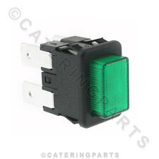 SW48 SMALL RECTANGLE GREEN NEON PUSH BUTTON ILLUMINATED SWITCH 19mm x 13mm
