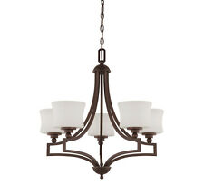 Savoy House 1P-7210-5-13 Terrell 5 Light Chandelier with English Bronze Finish