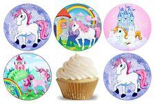24 Muffin / Cupcake Licorne Animal  Déco Gateau Disque Azyme Comestible