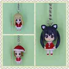 K-ON Japanese Anime Key Ring Chain 4cm Figure 3-pcs set