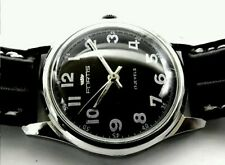 VINTAGE FORTIS SWISS MILITARY STYLE MECHANICAL MENS WATCH~NEW STRAP~SERVICED-UK