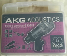 AKG D22 / XLR DYNAMIC MICROPHONE NEW UNUSED IN BOX CRYSTAL CLEAR SOUND CARIOID