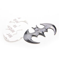 Black Cool Bat Man 3D carbon fiber Flying Bat Badge Sticker Car Logo Emblem FG