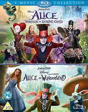 Alice in Wonderland & Alice Through the Looking Glass [Blu-ray Set, Region Free]