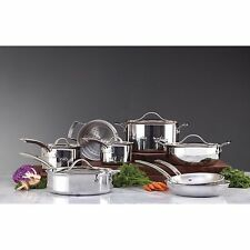 Kirkland Signature 13pc Tri-Ply Clad Stainless Steel Induction Cookware Set New!
