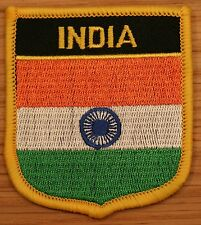 INDIA Indian Shield Country Flag Embroidered PATCH Badge P1