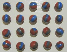 MARBLE KING  2 COLOR RED & BLUE MARBLES AKA SPIDERMAN #2479 LOT W/20
