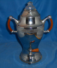 Vintage Continental Silver Co. Coffee Urn/Perc Amber CATALIN HANDLES Works