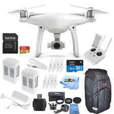 DJI Phantom 4 Quadcopter W/ 2 Batteries + Lens Filter Kit + Carrying Case + More