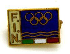 Spilla F.I.N. Federazione Italiana Nuoto (Bertoni Milano) cm 1 x 1,5