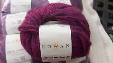 Rowan alpaca merino dk knitting wool in Hoby purple hues lot of 10 x 25g balls