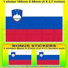 SLOVÉNIE Drapeau SLOVÈNE Vinyle Sticker Autocollant 100mm +2 BONUS