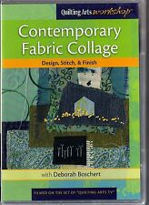 Contemporary Fabric Collage Dvd NEW & SEALED Quilting Arts, Deborah Boschert