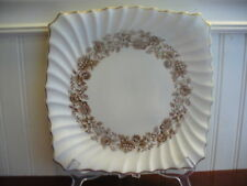 "Royal Doulton Bone China Mayfair Floral Motif 9"" Square Plate"