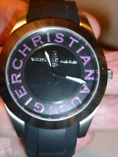 CHRISTIAN AUDIGIER WATCH*FINE DESIGNER STAINLESS+WATER RESISTANT 165' *NEW w/TAG