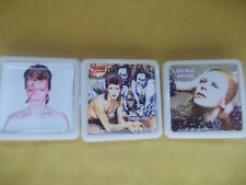 3 DAVID BOWIE ALBUM BADGES / PINS FREE POSTAGE IN THE UK