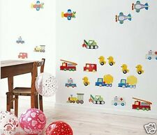 Cars Truck Ducks Airplane Wall Decal Room Sticker Bedroom Nursery Room Decor