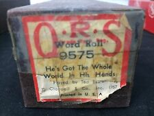 "Vintage QRS Player Piano Roll ""He's Got The Whole World In His Hands"" 9575Baxter"