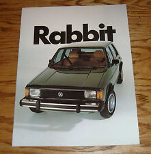 Original 1982 Volkswagen VW Rabbit Sales Brochure 82