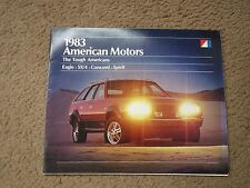 1983 AMERICAN MOTORS EAGLE SX/4 CONCORD SPIRIT ORIGINAL DEALER SALES BROCHURE