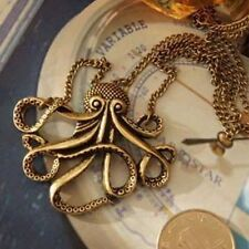 Gothic Steam Punk Octopus Pirate Pendant Long Sweater Chain Pendant Necklace