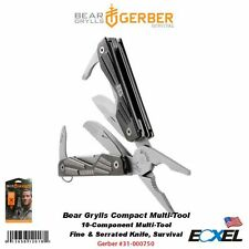 Gerber #31-000750 Bear Grylls Compact Multi-Tool, Fine &Serrated Blade, Survival