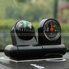 Multifunction Car Compass Thermometer Auto Car Boat Navigation Guide The Ball