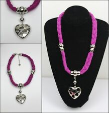 New ladies Braids style Jewelry Necklace Scarf with Heart Pendants