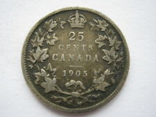 Canada 1905 silver 25 Cents NF