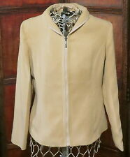FENDI - 100% - CASHMERE - CAMEL-JACKET-ZIP-FRONT-MADE-IN-ITALY, SZ. XL