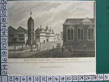 1814 DATED ANTIQUE LONDON PRINT ANTIENT NORTH EAST VIEW BISHOPGATE STREET
