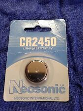 NEOSONIC 3V CR2450 OEM LITHIUM BATTERY NEW in package Coin Cell CR 2450
