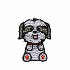 Shih Tzu Dog Rhinestone Glitter Jewel Phone Ipod Iphone Sticker Decal