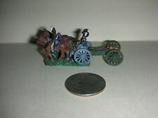 "Vintage Lead Miniature Field Soldiers - 3 Soldiers/Wagon/Cannon - 1""Tall - (#15)"