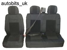 2+1 BLACK PREMIUM FABRIC SEAT COVERS FOR VW TRANSPORTER T4 1992-2003 CARAVELLE