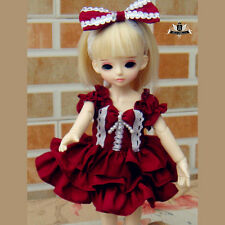 1/6 BJD skirt set YOSD Dollfie Lolita DIM red Dress Clothing AOD DOD Dollmore DZ