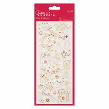 Docraft Papermania Glitter Dot Stickers -Christmas Reindeer for cards and crafts