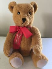 Vintage Deans Childsplay Toys Stuffed Teddy Bear, Norman Rockwell on bow, 18""