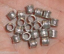 Lot 20 Perles Argent 925% Ethnique Tribal Thailande Silver Spacer Beads Thailand