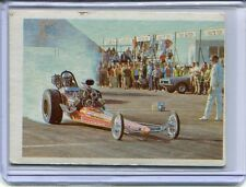 1970's Fleer AHRA Official Drag Race Champs Jim Nicoll VG Condition