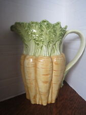 VINTAGE Fitz & Floyd CARROT PITCHER Perfect for EASTER Spring Celebrating!