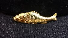 NEW Small-sized Gold Plated Carp Pin by Marie de Masi