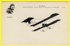 cpa AVIATION BIPLAN SOMMER Piloté par Léon BATHIAT Avion Ed. E. Malcuit, Paris