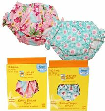 2 Assorted I Play Girls Washable Swim Diaper Cover UPF 50+ Size 18-24 M 22-30lbs