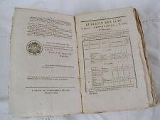 BULLETIN DES LOIS DU ROYAUME DE FRANCE - IXe SERIE - TOME HUITIEME - 1834