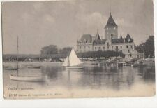 Ouchy Le Chateau Vintage Postcard Switzerland 646a