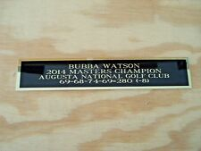 Bubba Watson 2014 Masters Nameplate For A Golf Flag Case Or Scorecard 1.25 X 6