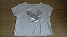 BNWT SIZE 18 WHITE T SHIRT WITH SILVER MICKEY MOUSE HEAD
